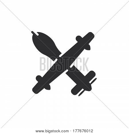 Unmanned aerial vehicle military drone icon vector filled flat sign solid pictogram isolated on white. Symbol logo illustration