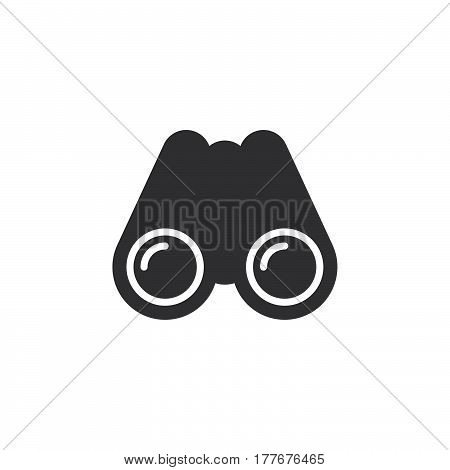 Binocular icon vector filled flat sign solid pictogram isolated on white. Search symbol logo illustration