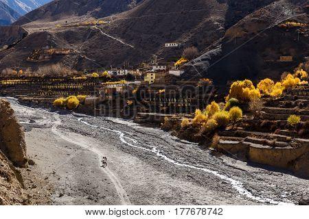 Panda Khola River, Lupra Village Lower Mustang, Nepal