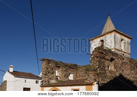 Church within the walls of the castle Castelo de Vide Alentejo region Portugal