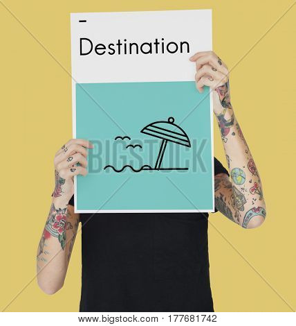 Destination Journey Location Map Route Sign Icon