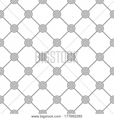 Vector geometric pattern with circles - seamless background.