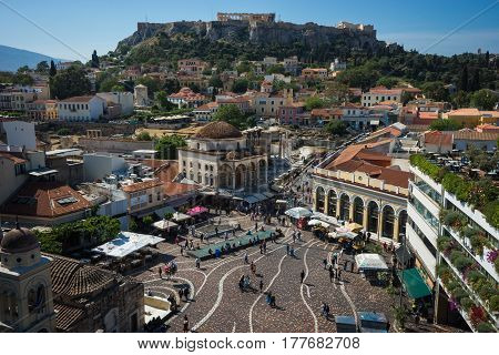 Scenic View To Monastiraki Square From The Roof