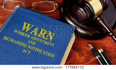 Book with title Worker Adjustment and Retraining Notification Act (WARN).