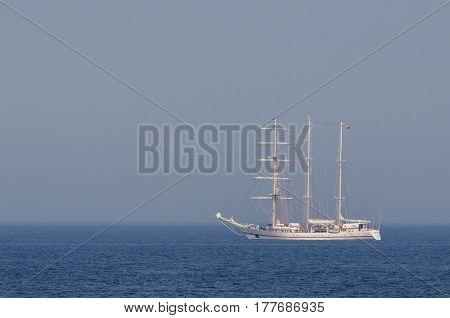 BARK OF THE BALTIC SEA - sailing ship on a calm sea