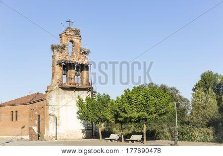 Santa Engracia parish church in Valverde de la Virgen, province of Leon, Spain