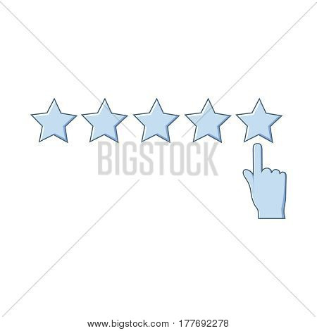 Isolated rating icon on white background. Concept of favorite, consumer and service.