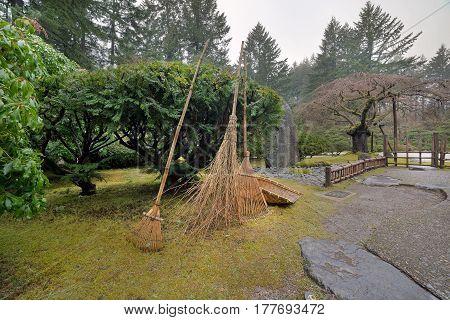 Japanese Garden Landscape Bamboo Reed Gardening Tools