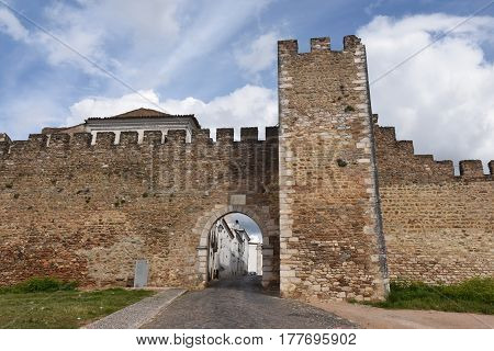 Walls of Estremoz Alentejo region Portugal on a cloudy day