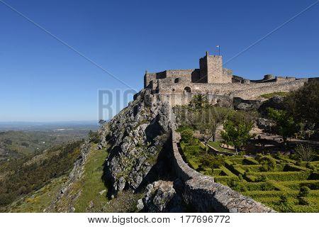 Castle of Marvao Alentejo region Portugal on a sunny day