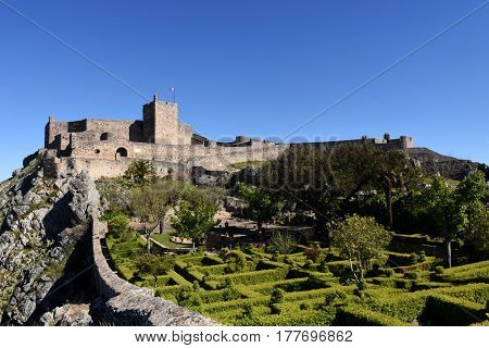 Castle of Marvao Alentejo region Portugal on a sunny day