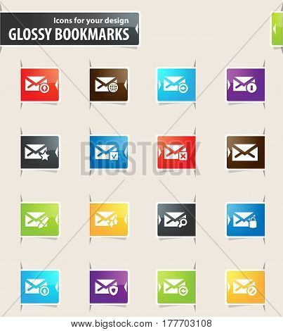 Mail And Envelope Bookmark Icons