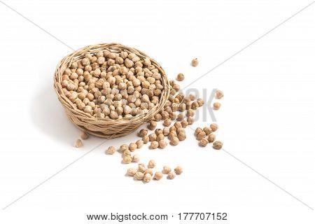 Chickpeas Into A Basket