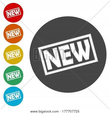New sign icon. New arrival button symbol