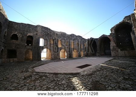 Inner Courtyard Of An Ancient Fort Of World War I