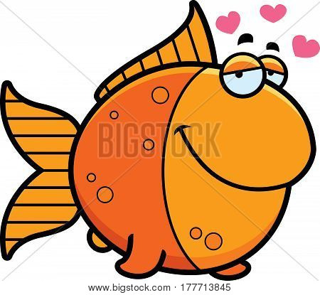 Cartoon Goldfish In Love