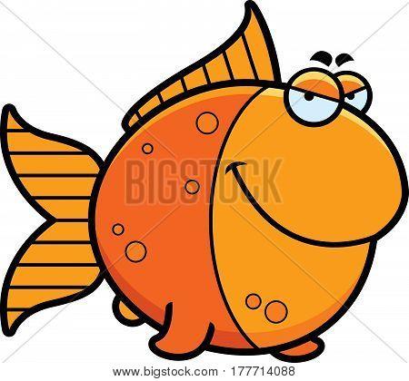 Sly Cartoon Goldfish