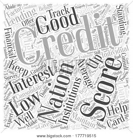 average credit national score Word Cloud Concept