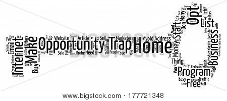 Avoid A Trap When You Start A Business From Home text background word cloud concept