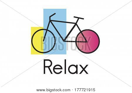 Bike Graphic Icon on White Background