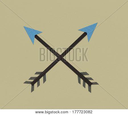 Crossed Arrow Archery Direction Icon Symbol
