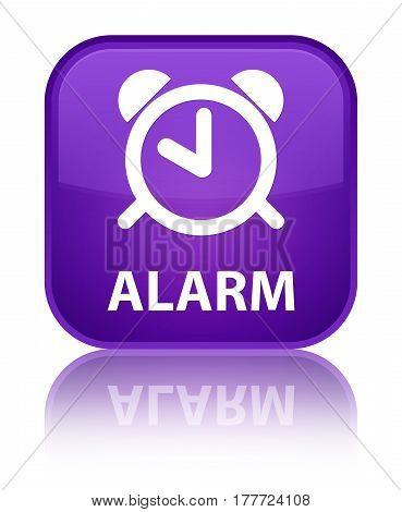 Alarm Special Purple Square Button