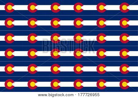 The United States of American state flat of colorado as a background