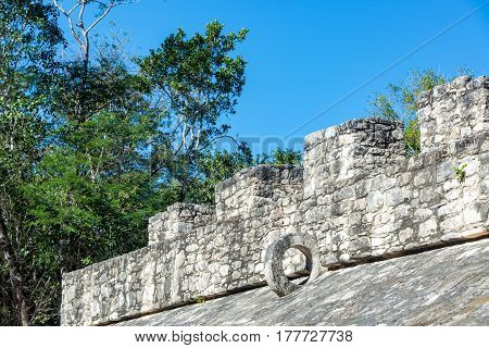 Mayan Ball Court In Coba, Mexico