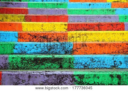 Travel To Istanbul, Turkey. The View On The Rainbow Stairs.