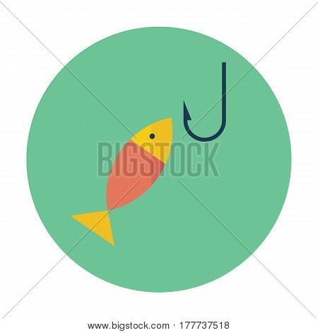 flat icon of fishing, for web desing, mobile and logo