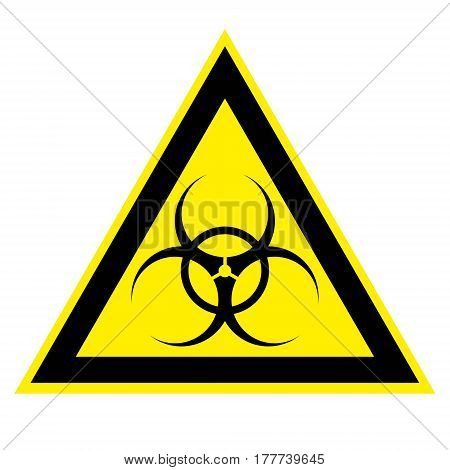 Biohazard Sign biological activity threat alert . Vector illustration