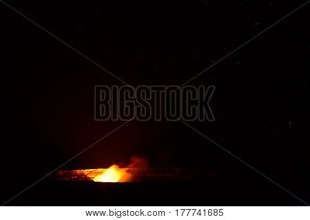 Erupting Volcano In Hawaii Volcanoes National Park, Big Island, Hawaii