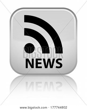News (rss Icon) Special White Square Button