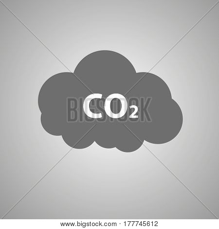 CO2 emissions icon . C02 cloud vector illustration