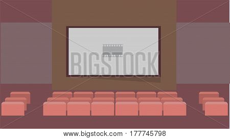 Cinema Vector Illustration | Conceptual background design vector | Use for building, architecture, construction, interior and much more. The set can be used for several purposes like: websites, print templates, presentation templates, and promotional mate