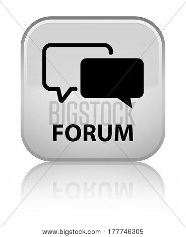 Forum Special White Square Button