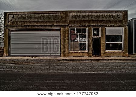 Old building in Carpron Oklahoma on old Highway 66