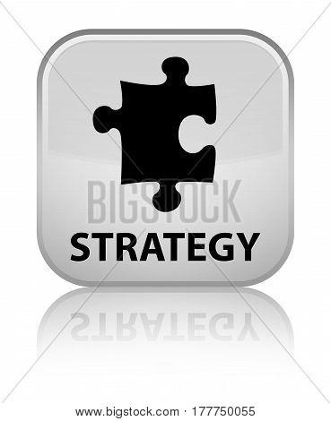 Strategy (puzzle Icon) Special White Square Button