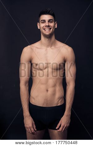 One Young Man, Shirtless Body Smiling Happy