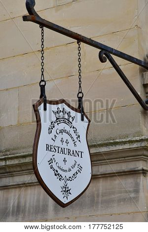 Chantilly France - august 14 2016 : La Capitainerie gastronomic restaurant in the castle of Chantilly