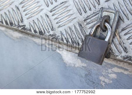 Safety lock security on a metal box