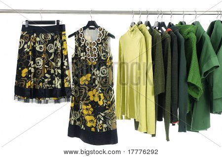 Colorful Clothing Rack Display