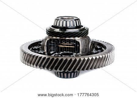 differential gear isolated on a white background