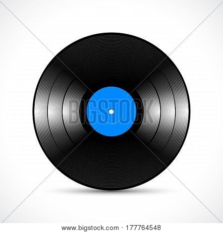 Vinyl disc 10 inch LP record with shiny grooves