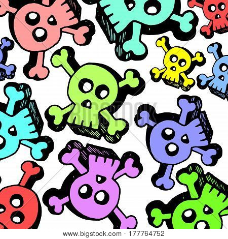 skull vector dead skeleton halloween illustration cartoon