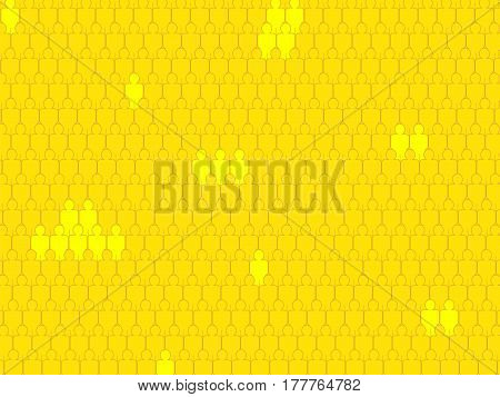 Vector illustration. Abstract background. Crowd Some silhouettes brighter