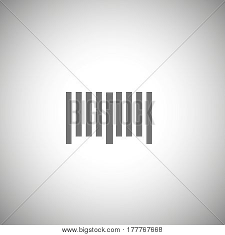 bar code icon . Simple bar code pictogram