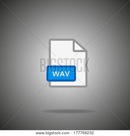 wav icon. wav Format symbol.  wav Vector sign