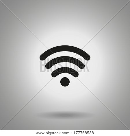 wi fi icon . Wireless connection symbol . wi fi simple sing