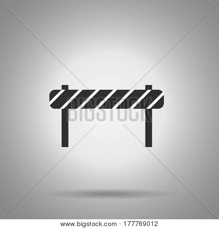 road barrier icon . striped road desk . Vector